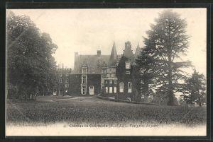 AK Courtalain, Chateau, vue prise du parc