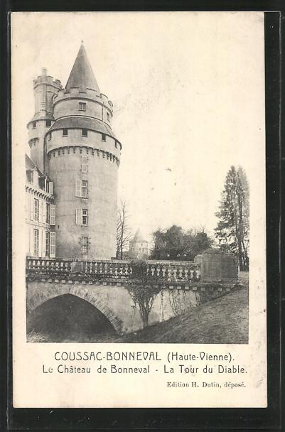 AK Coussac-Bonneval, Le Chateau de Bonneval, La Tour du Diable