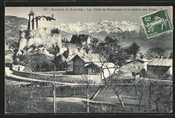 AK Sassenage, Les Côtes de Sassenage et la chaîne des Alpes