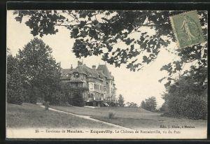 AK Ecquevilly, Le Château de Romainville, vu du Parc