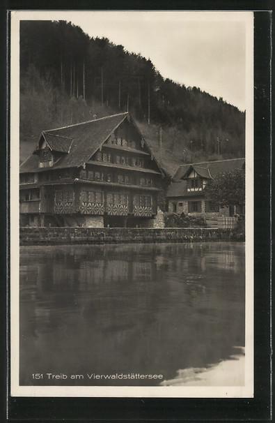 AK Treib, Gasthaus am Vierwaldstättersee