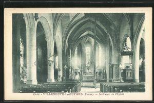AK Villeneuve-la-Guyard, Intérieur de l'Eglise