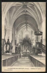 AK Villeneuve-L'Archeveque, Intérieur de l'Eglise