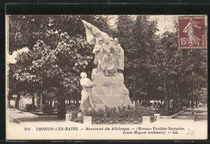 AK Thonon-les-Bains, Monument des Allobroges