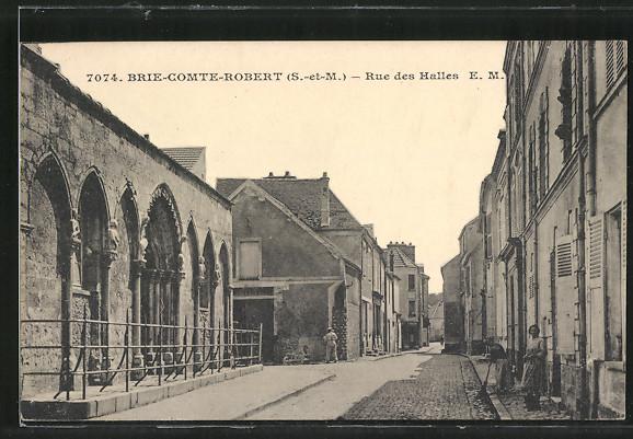 AK Brie-Comte-Robert, Rue des Halles