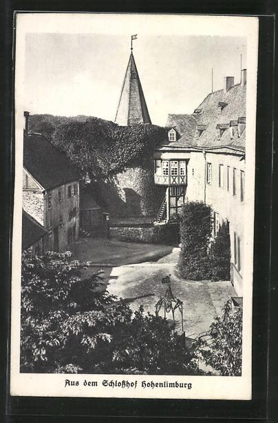 AK Hohenlimburg, Ansicht vom Schlosshof Hohenlimburg