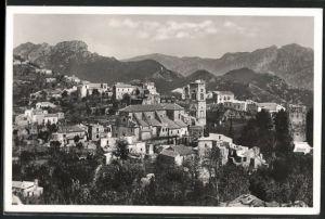 AK Ravello, Panorama mit Gotteshaus