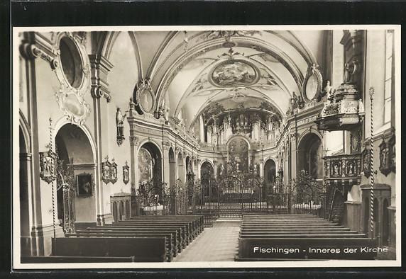 AK Fischingen, Inneres der Kirche