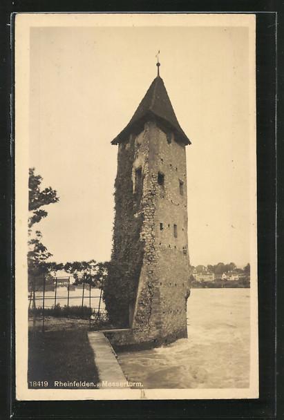 AK Rheinfelden, Blick auf Messerturm