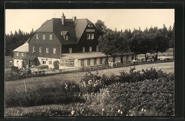 AK Oberbärenburg, Ansicht der HO-Gaststätte und Gasthof