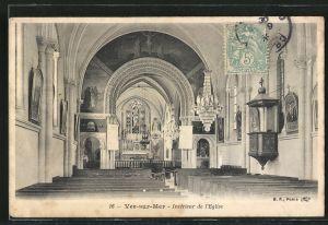 AK Ver-sur-Mer, Intérieur de l'Eglise