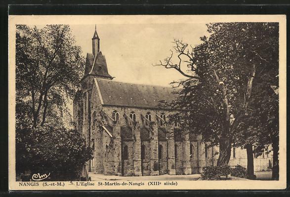 AK Nangis, L'Eglise St-Martin-de-Nangis