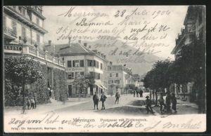 AK Meiringen, Postgasse mit Plattenstock