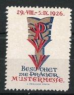 Reklamemarke Prag, Prager Mustermesse 1926, Messelogo