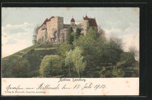 AK Lenzburg, Blick auf das Schloss