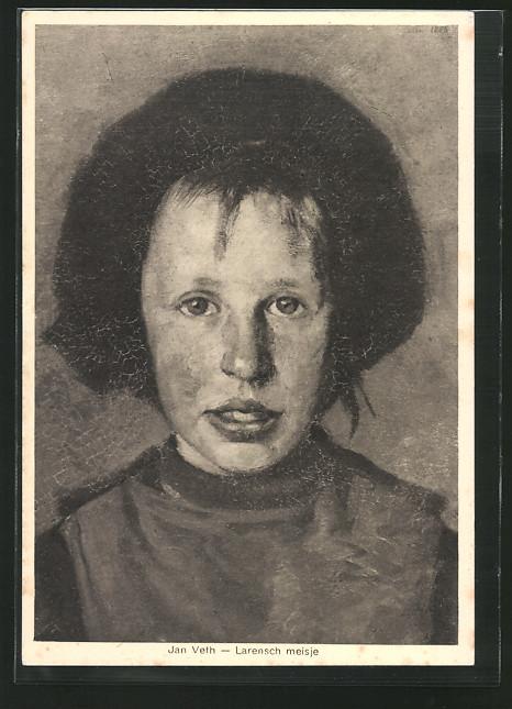 Künstler-AK sign.Jan Veth: Larensch meisje, Portrait einer Mädchens