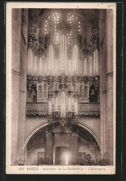 AK Rodez, Interieur de la Cathedrale, Les Orgues, Orgeln