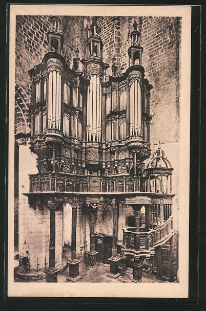 AK St-Bertrand-de-Comminges, La Cathedrale, Orgel, Les Orgues, XVe s. et la Chaire