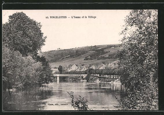 AK Vincelottes, L'Yonne et le Village