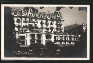 AK Montreux, Grand Hotel Suisse, Frontalansicht