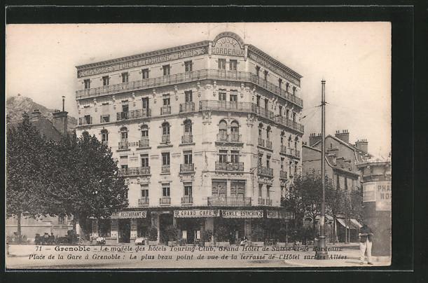 AK Grenoble, Le modéle des hotels Touring-Club, Grand Hotel de Suisse