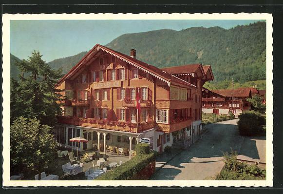 AK Wilderswil, Hotel Alpenblick mit Terrasse