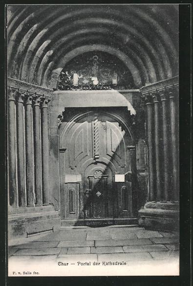AK Chur, Portal der Kathedrale