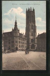 AK Fribourg, La Banque d\'Etat et la Cathédrale