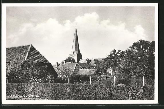 AK Putten, Panorama mit Kirche