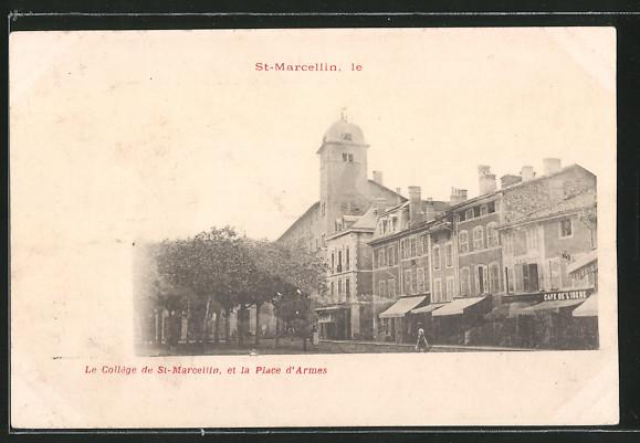 AK Saint-Marcellin, le Collége de St. Marcellin et la Place d'Armes