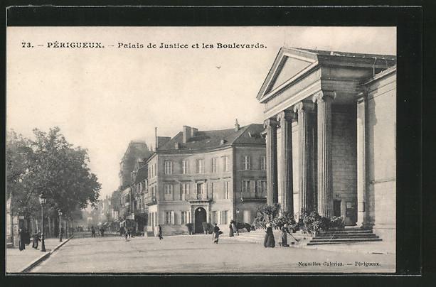 AK Périgueux, Palais de Justice et les Boulevards