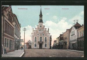 AK Sonderburg, Rathaus und Perlstrasse