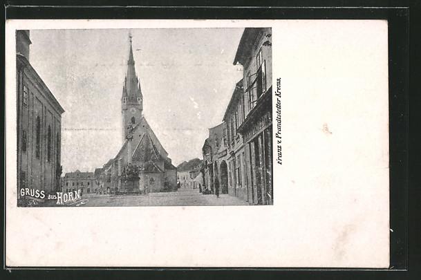 AK Horn, Blick auf Kirche