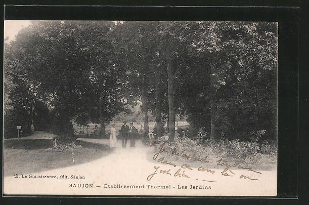 AK Saujon, Établissement Thermal, Les Jardins, personnes