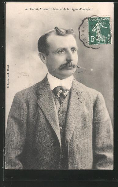 AK M. Blériot, Aviateur, chevalier de la Légion d\'honneur, Flugzeug-Pionier