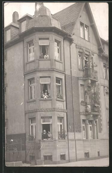 Foto-AK Mannheim-Lindenhof, Wohnhaus in der Emil-Heckel-Strasse