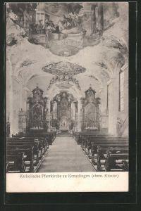 AK Kreuzlingen, Inneres der kath. Kirche