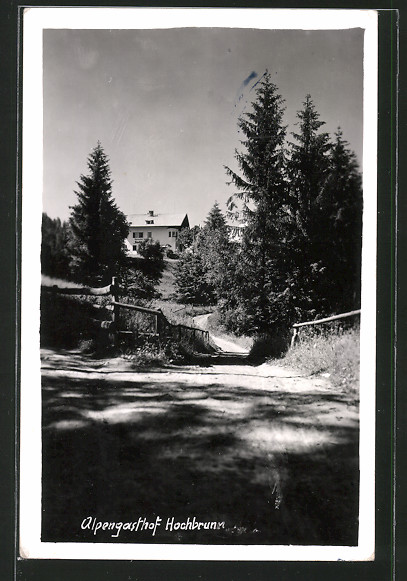 AK Arzberg, Blick nach dem Gasthof Hochbrunn