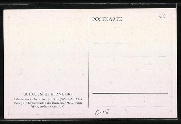 AK Berndorf, Schule, Lehrzimmer im byzantinischen Stil 1
