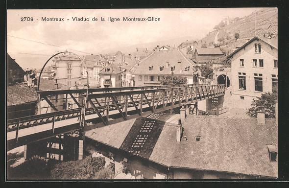 AK Montreux, Viaduc de la ligne Montreux-Glion