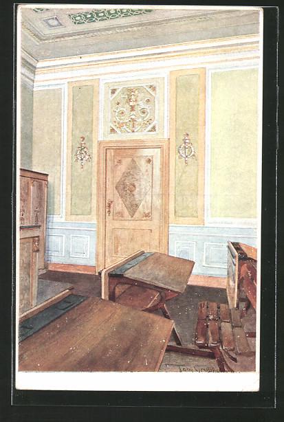 AK Berndorf, Schule, Lehrzimmer im Empirestile, Teilansicht