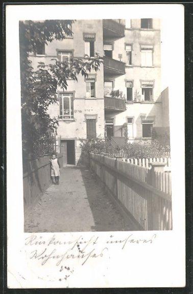 Foto-AK Leipzig-Gohlis, Wohnhaus in der Breitenfelder Strasse 73