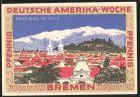 Notgeld Bremen 1923, 25 Pfennig, Internationale Flaggen und Stadtwappen, Ortsansicht von Santiago de Chile