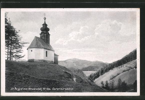 AK St. Aegyd a. Neuwalde, Am Osterkirchlein