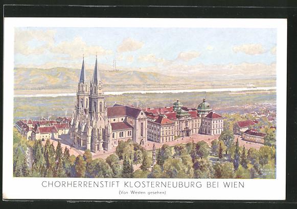 AK Klosterneuburg, Chorherrenstift von Westen