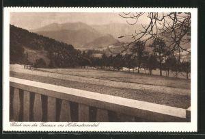 AK Weyer, Blick von der Terrasse d. Kuranstalt ins Hollensteinertal