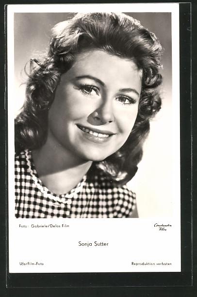 AK Schauspielerin <b>Sonja Sutter</b> in karierter Bluse 0 ... - AK-Schauspielerin-Sonja-Sutter-in-karierter-Bluse