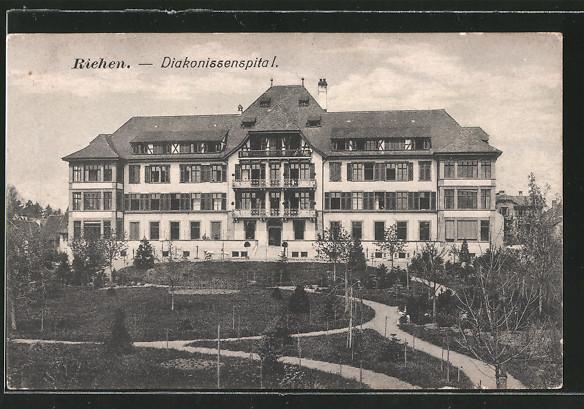 AK Riehen, Diakonissenspital mit Garten