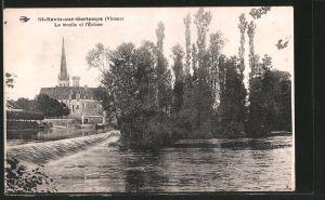 AK St-Savin-sur-Gartempe, Le Moulin et l'Ecluse