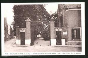 AK La Ville-du-Bois, Entrée de l'Institution de Jeunes Filles, Pensionnat du Sacré-Cour